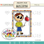 Preppy Pop Button #1
