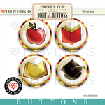 Preppy Pop Buttons #2