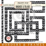 Preppy Pop Borders & Frames