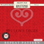 Preppy Pop Repeat Pattern #18 Squares - Red
