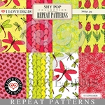 Shy Pop Repeat Patterns #1 - 8