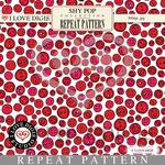 Shy Pop Repeat Pattern #13 Buttons - Red