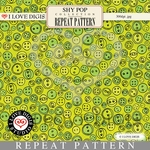 Shy Pop Repeat Pattern #14 Buttons - Green