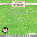 Silly Pop Repeat Pattern #37 Bubbles - Green