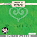 Slugger Pop Repeat Pattern #13 Grass