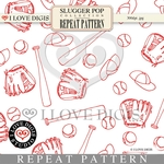 Slugger Pop Repeat Pattern #14 Baseball
