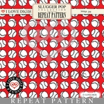 Slugger Pop Repeat Pattern #12 Baseballs