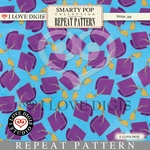 Smarty Pop Repeat Pattern #13 Graduation Caps - Purple