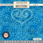 Sweetie Pop Repeat Pattern #10 Forget Me Nots - Blue