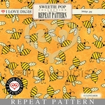 Sweetie Pop Repeat Pattern #12 Bees