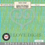Tiny Pop Repeat Pattern #9 Green Stripe