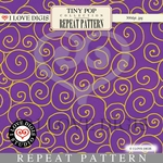 Tiny Pop Repeat Pattern #10 Purple Swirl