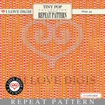 Tiny Pop Repeat Pattern #11 Orange Stripes