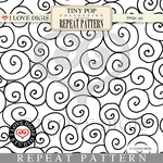 Tiny Pop Repeat Pattern #17 Swirl B&W