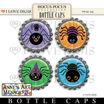 Hocus Pocus Bottle Caps #3 Spiders