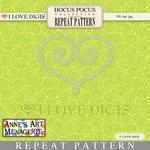 Hocus Pocus Repeat Pattern #15 Swirls - Green