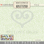 Hocus Pocus Repeat Pattern #16 Dots - Green