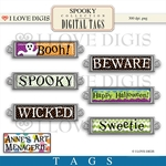 Spooky Digital Tags #1