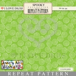 Spooky Repeat Pattern #20 Swirls - Green