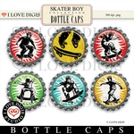 Skater Boy Bottle Caps #1