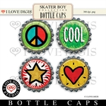 Skater Boy Bottle Caps #2