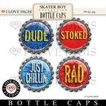 Skater Boy Bottle Caps #3
