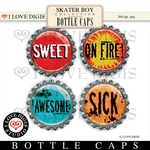 Skater Boy Bottle Caps #4