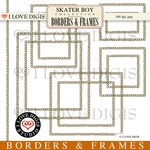 Skater Boy Borders & Frames #1