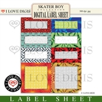 Skater Boy Label Sheet