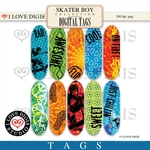 Skater Boy Digital Tags