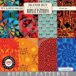 Skater Boy Repeat Patterns #1 - 8