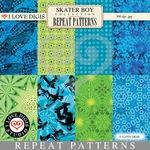 Skater Boy Repeat Patterns #9 - 16