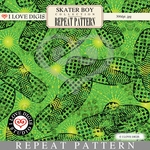 Skater Boy Repeat Pattern #33 Footprints