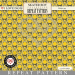 Skater Boy Repeat Pattern #34 Pull Tabs - Yellow