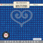 Skater Boy Repeat Pattern #39 Dot - Blue