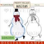 Frosty Village Snowman Digital Stamps