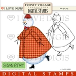 Frosty Village Sunday Snowman Digital Stamps