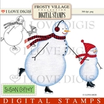 Frosty Village Father & Son Snowmen Digital Stamps