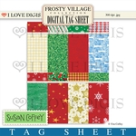Frosty Village Digital Tag Sheet