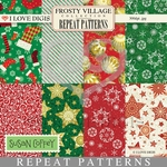 Frosty Village Repeat Patterns #9 - 16