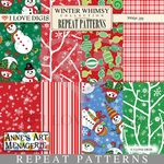 Winter Whimsy Repeat Patterns #1 - 8