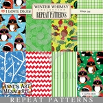 Winter Whimsy Repeat Patterns #9 - 16