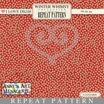Winter Whimsy Repeat Pattern #18 Dots - Red