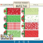Winter Whimsy Digital Tags