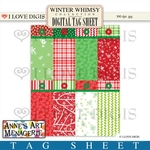 Winter Whimsy Digital Tag Sheet