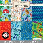Beanie Pop Repeat Patterns #1 - 8