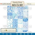 Flutterby Winter Digital Tag Sheet