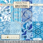Flutterby Winter Repeat Patterns #1 - 8