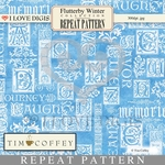 Flutterby Winter Digital Pattern Repeat #9 Verse