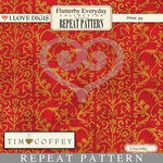 Flutterby Everyday Repeat Patterns #18 Damask Gold